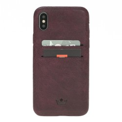 Barchello Ultra Cover-CC  Deri Telefon Kılıfı iPhone X-XS Mor
