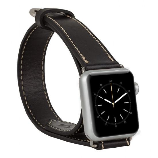 Bouletta Apple Watch Deri Çift Tur Kordon 38/40mm-Rst1