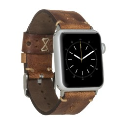 Bouletta Apple Watch 38/40mm Deri Saat Kordon Delikli Taba