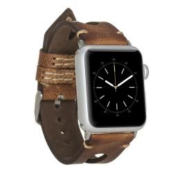 Bouletta Apple Watch 42/44mm Deri Saat Kordon Taba
