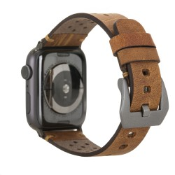 Bouletta Vigo Sport Toka Apple Watch Deri Kordon 42-44mm G19 Taba