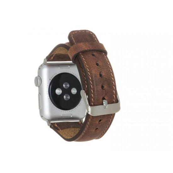 Bouletta Apple Watch Deri Kordon 42-44mm G2 Kahverengi