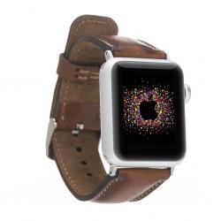 Bouletta Apple Watch Deri Kordon 42-44mm RST2EF Efektli Kahve