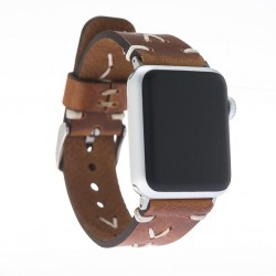 Bouletta Apple Watch Deri Saraç Dikişli Kordon 42/44mm V18 Omega