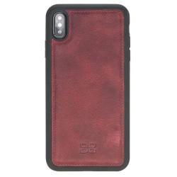 Bouletta FXC Deri Telefon Kılıfı iPhone XS Max V25 Kırmızı