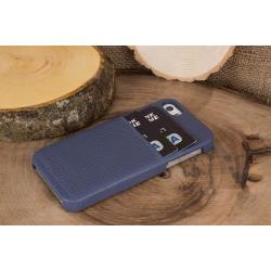 Bouletta Ultimate Jacket-CC Deri Telefon Kılıfı iPhone 5-5s-SE  Mavi