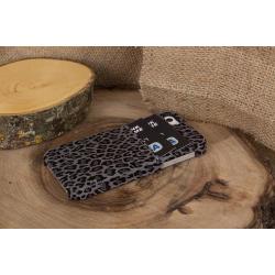 Bouletta Ultimate Jacket-CC Deri Telefon Kılıfı iPhone 5-5s-SE  Gri Leo
