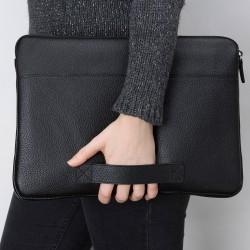 Bouletta Awe Deri Tablet/Bilgisayar El Çantası 13inç FL01 Siyah