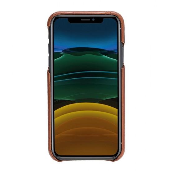 Bouletta F360 Deri Telefon Kılıfı iPhone 11 RST2EF Taba