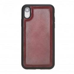 Bouletta FXC Deri Telefon Kılıfı iPhone XR Bordo