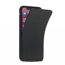 Bouletta FPC Kartlıklı Slim Deri Telefon Kılıfı iPhone XS Max-RST1 Siyah
