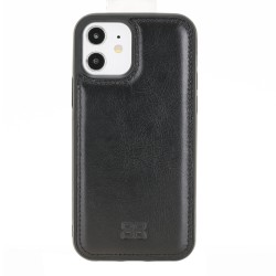 Bouletta FXC Deri Telefon Kılıfı iPhone 12/12 Pro RST1 Siyah