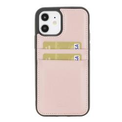 Bouletta FXC-CC Deri Telefon Kılıfı iPhone 12/12 Pro NU2 Pembe