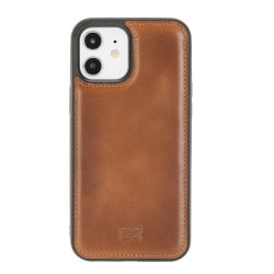 Bouletta FXC Deri Telefon Kılıfı iPhone 12/12 Pro RST2EF Taba