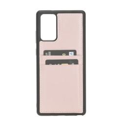 Bouletta FXC-CC Deri Telefon Kılıfı Samsung Note 20  NU2 Pembe