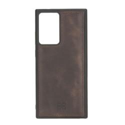 Bouletta FXC Deri Telefon Kılıfı Samsung Note 20 Ultra TN03 Kahve