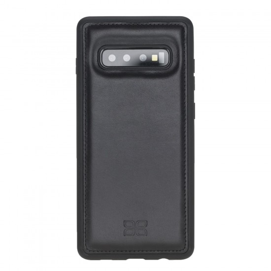 Bouletta FXC Deri Telefon Kılıfı Samsung S10+ RST1 Siyah