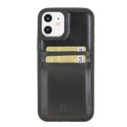 Bouletta FXC-CC Deri Telefon Kılıfı iPhone 12/12 Pro RST1 Siyah