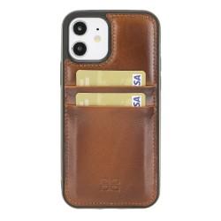 Bouletta FXC-CC Deri Telefon Kılıfı iPhone 12/12 Pro RST2EF Taba