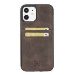 Bouletta FXC-CC Deri Telefon Kılıfı iPhone 12/12 Pro TN03 Kahve