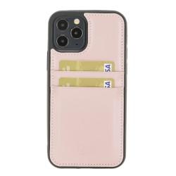 Bouletta FXC-CC Deri Telefon Kılıfı iPhone 12 Pro Max NU2 Pembe