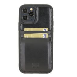 Bouletta FXC-CC Deri Telefon Kılıfı iPhone 12 Pro Max RST1 Siyah