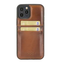 Bouletta FXC-CC Deri Telefon Kılıfı iPhone 12 Pro Max RST2EF Taba