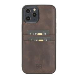 Bouletta FXC-CC Deri Telefon Kılıfı iPhone 12 Pro Max TN03 Kahve