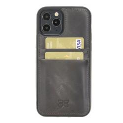 Bouletta FXC-CC Deri Telefon Kılıfı iPhone 12 Pro Max TN18EF Gri