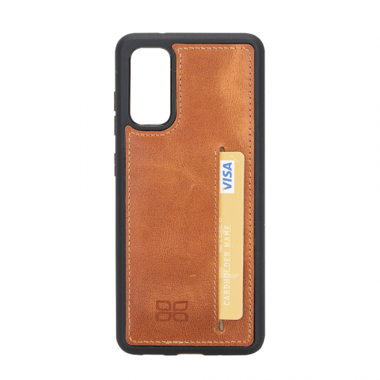 Bouletta FXC-CCP Deri Telefon Kılıfı Samsung S20 TN11 Taba