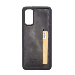 Bouletta FXC-CCP Deri Telefon Kılıfı Samsung S20 TN18EF Gri