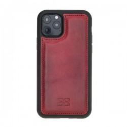 Bouletta FXC Deri Telefon Kılıfı iPhone 11 Pro 5.8-V4EF Kırmızı