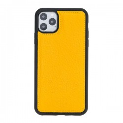 Bouletta FXC Deri Telefon Kılıfı iPhone 11 ProMax 6.5-FL12 Sarı