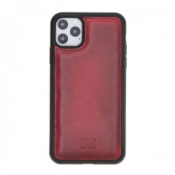 Bouletta FXC Deri Telefon Kılıfı iPhone 11 ProMax 6.5-V4EF Kırmızı