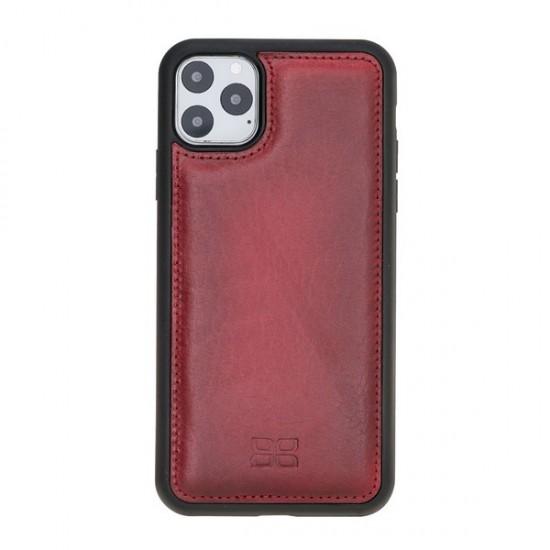 Bouletta FXC Deri Telefon Kılıfı iPhone 11 Pro Max V4EF Kırmızı