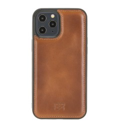 Bouletta FXC Deri Telefon Kılıfı iPhone 12 Pro Max RST2EF Taba