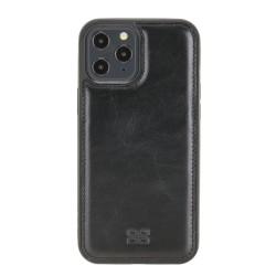 Bouletta FXC Deri Telefon Kılıfı iPhone 12 Pro Max RST1 Siyah