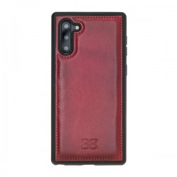 Bouletta FXC Deri Telefon Kılıfı Samsung Note10 V4EF Kırmızı