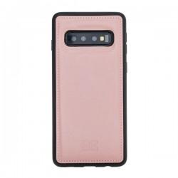 Bouletta FXC Deri Telefon Kılıfı Samsung S10 NU2 Pembe