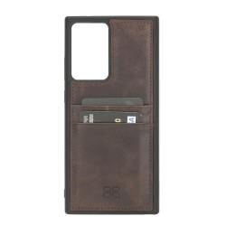 Bouletta FXC-CC Deri Telefon Kılıfı Samsung Note 20 Ultra TN03 Kahve