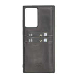 Bouletta FXC-CC Deri Telefon Kılıfı Samsung Note 20 Ultra TN18EF Gri
