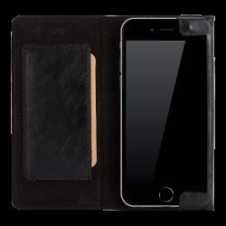 Bouletta Halfway Deri Cüzdan Kılıf iPhone 6-6s - Siyah