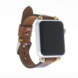 Bouletta Apple Watch Deri Kordon 38-40-42-44 mm İnce Saraç RST2EF