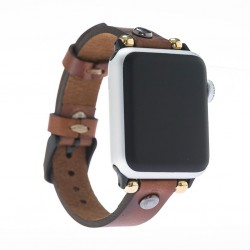 Bouletta Apple Watch Deri Kordon 38-40-42-44mm Slim Silver Trok RST2EF