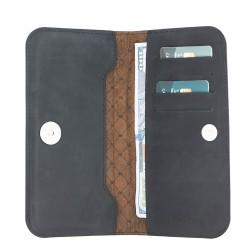 Bouletta Lisbon Clutch Universal Kartlıklı Telefon Cüzdan 5.7'' G1 Siyah