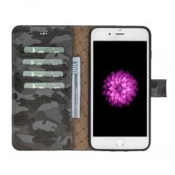Bouletta MW Deri Telefon Kılıfı iPhone 7-8 Plus KFL1 Siyah-Gri