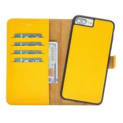 Bouletta MW Deri Telefon Kılıfı iPhone 7-8 Plus FL12 Sarı