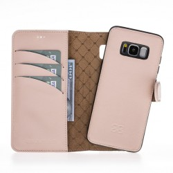 Bouletta Magic Wallet Deri Telefon Kılıfı-Samsung S8 Plus-Nude Pembe