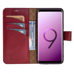Bouletta Magic Wallet Deri Telefon Kılıfı-Samsung S9-V4Ef Bordo