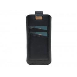 Bouletta Multi Case-CC Deri Telefon Kılıfı Samsung Note 10 RST1 Siyah
